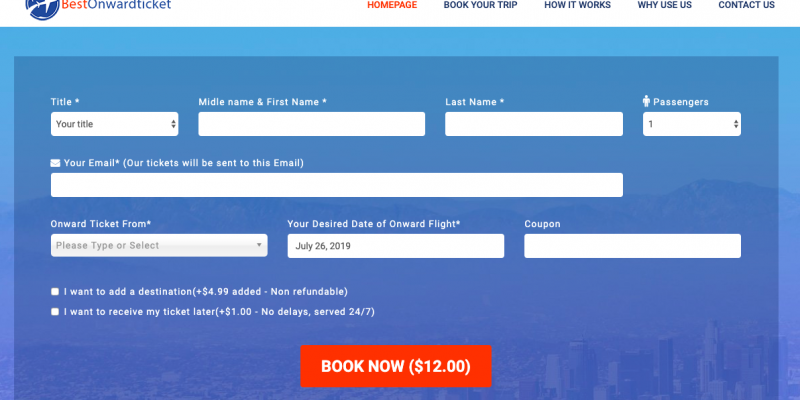Best.Onward.Ticket: The solution for travelers with one-way tickets and no fix schedule