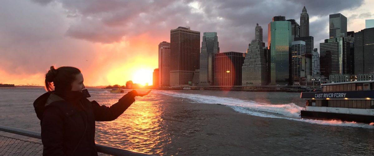 NY Skyline Brooklyn Heights